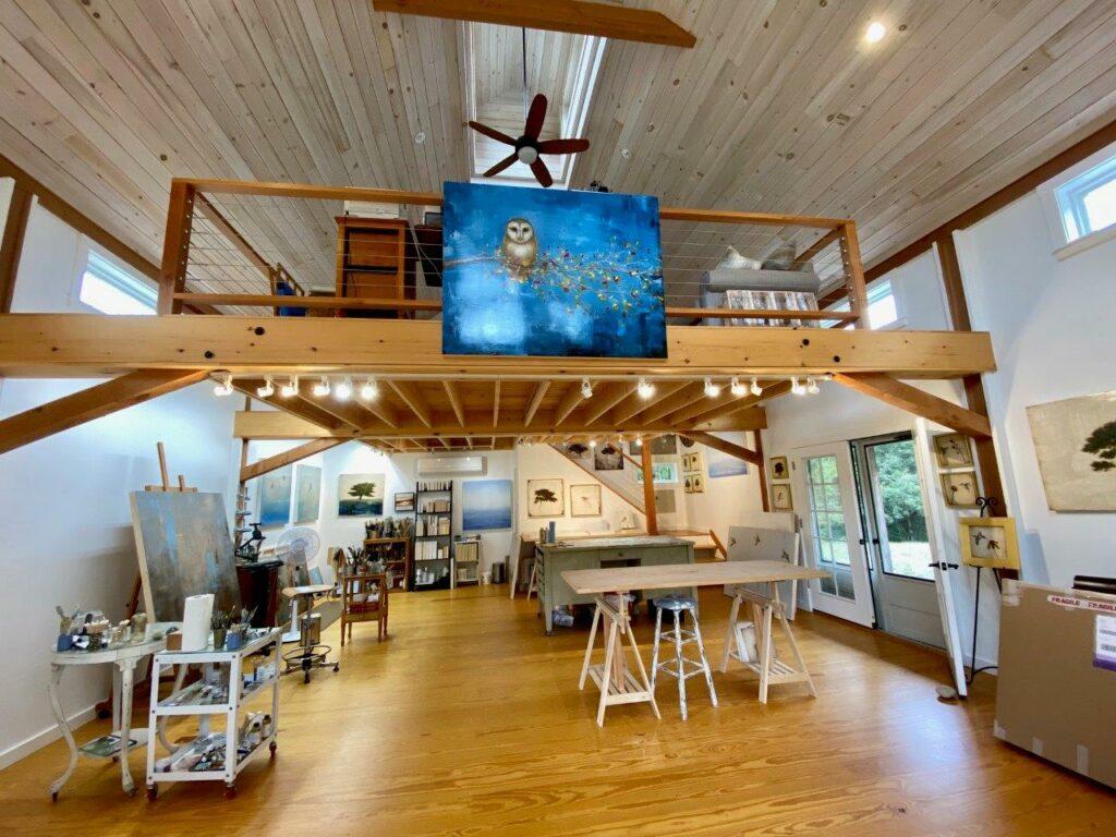 Interior view of Jessica Pisano's art studio