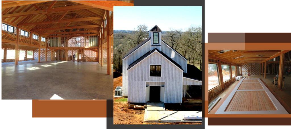 Geobarns scissor trellis building design and construction in Texas Retrofitting a church with a modern update.