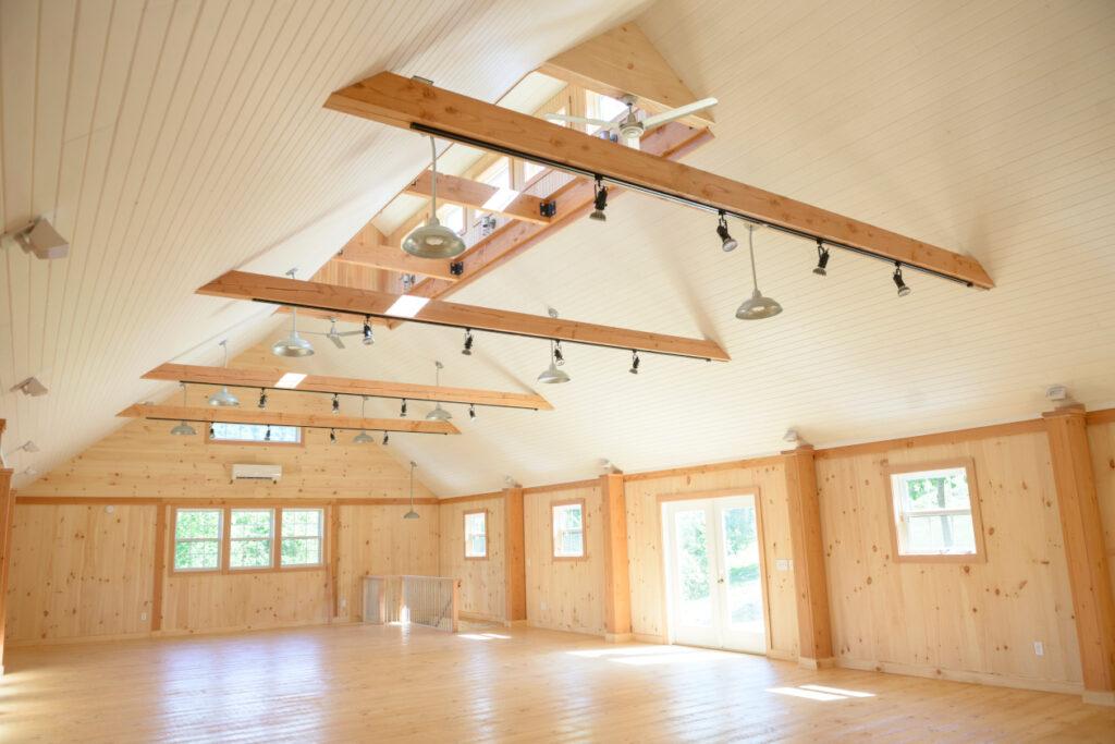 open clear space timber shop floor loft