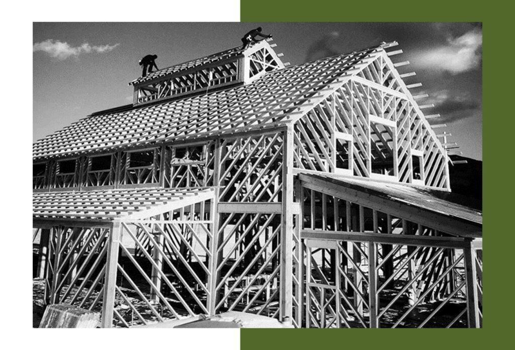 Geobarns signature diagonal framing creates strong, versatile buildings